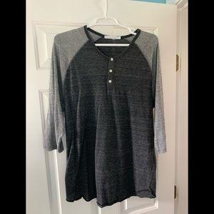 Grey Alternative 3-quarter length shirt